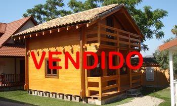 Venta cabaña madera maciza 70m² – 5.70×6.20  VENDIDO