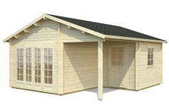 cabaña de madera Irene 21.9 de Casas Carbonell en madera tratada