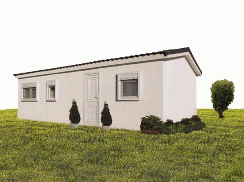 Casas Prefabricadas de Cemento, Hergohomes, modelo Verona 36,8m² – 8,00 x 4,60