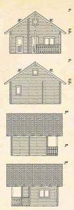 alzados de caseta de madera sauna Leia 2