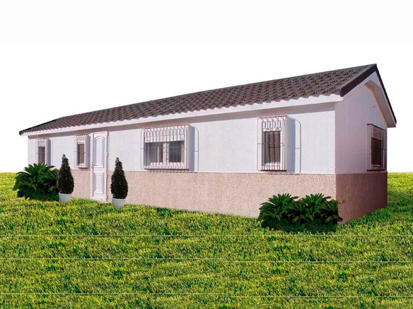 Casas Prefabricadas Modulares Hergohomes, modelo Tritón-N 44m² – 11,00×4,00