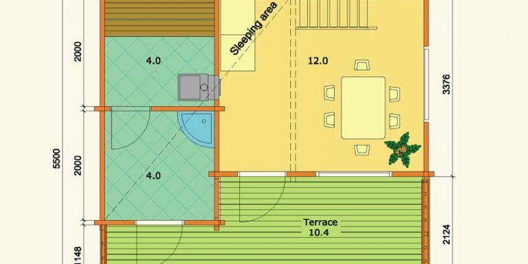 plano sauna Leia 2