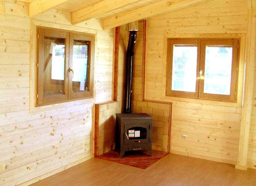 Estufas para casas de madera de Casas Carbonell