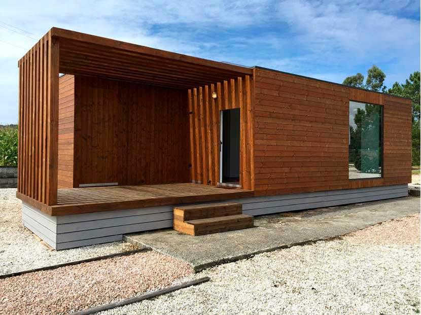 Casa Prefabricada Moderna Helena 48 M² Terraza Casas Carbonell