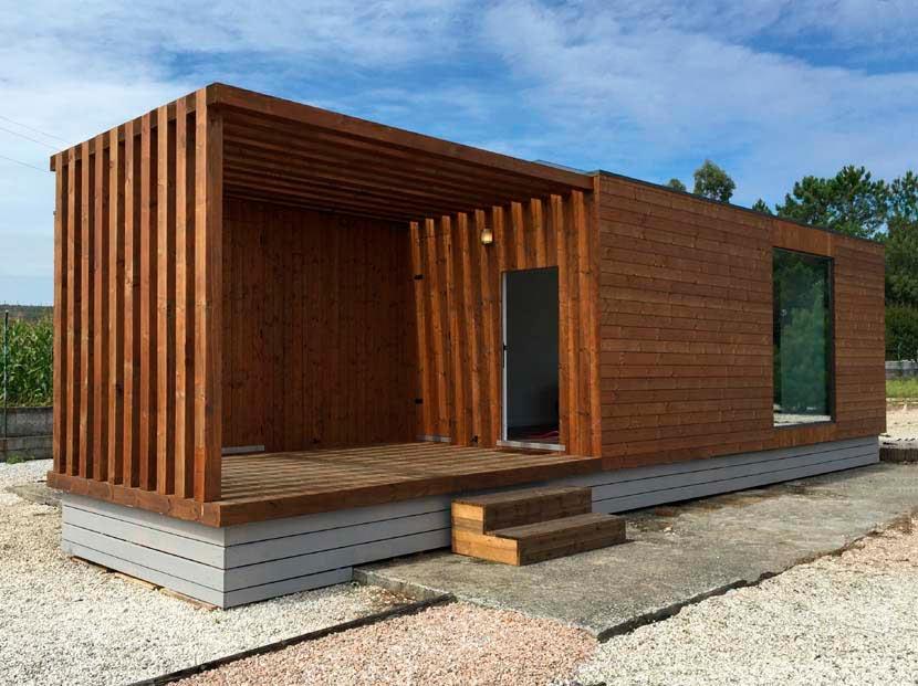 Casa de madera prefabricada moderna, Carpato Helena 48m²