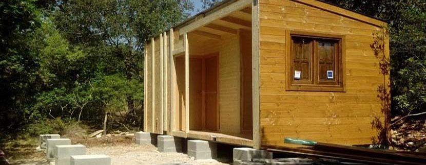 Instalacion de casa de madera en Mallorca
