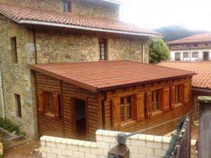 casa modular para comedor en colegio