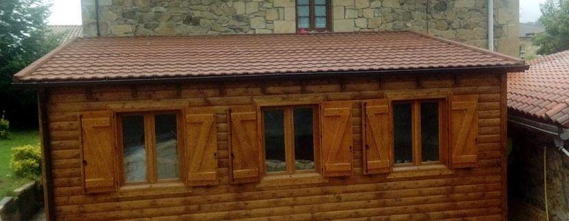 casa modular para comedor en madera