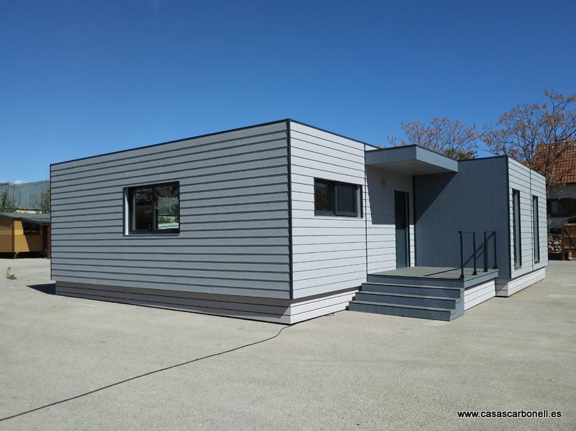 Casa modular moderna, diseño cúbico, Lara 102 m²
