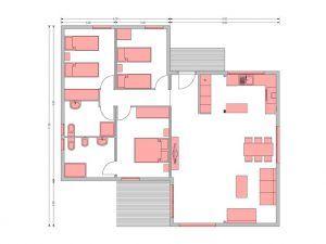 Plano de Oferta casa moderna por renovación de exposición