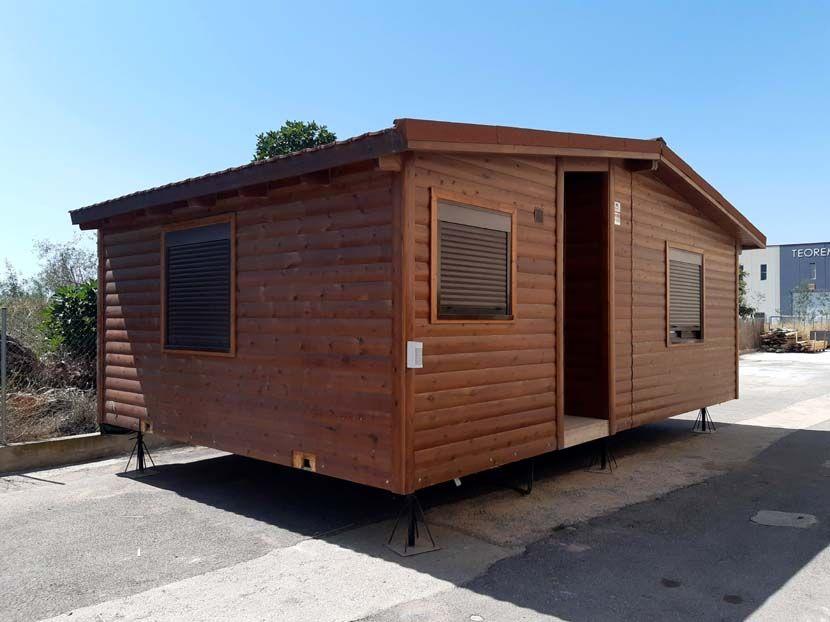 Oficina usada prefabricada, transportable en 2 módulos.