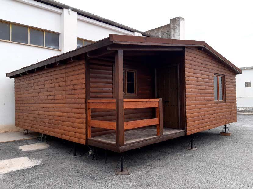 Ocasión casa de madera modular diáfana.