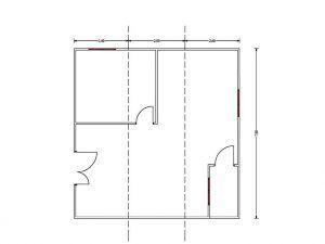 Plano de planta de Ocasión casa de madera